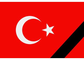 drapeeau turc en deuil
