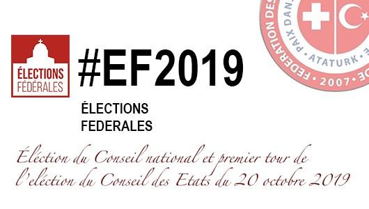 Elections du Conseil national et premier tour de l'élection au Conseil des Etats – 20 octobre 2019