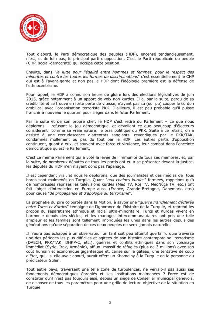 Lettre au Conseil administratif - Motion-1261 - 7 mars 2017 - Page 2