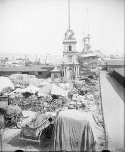 İngiliz işgal kuvvetleri Dolmabahçe'de - Kasım 1918