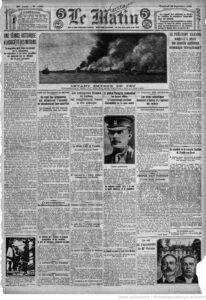 Ce sont les Arméniens qui allumèrent l'incendie en abandonnant leur quartier », Le Matin, 22 septembre 1922, p. 1