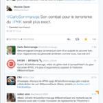 Tweet diffamatoire de Carlo Sommaruga à l'encontre de l'historien français Maxime Gauin - 5 juin 2016