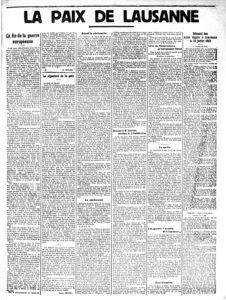 Gazette de Lausanne - 25.07.1923 - La paix de Lausanne (page 3)